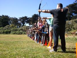Archery first time lesson class: January 19, 2013