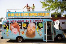 Jen and Paul's One Stop Shopping Souvenir City and Chelsea Bus Tours logo