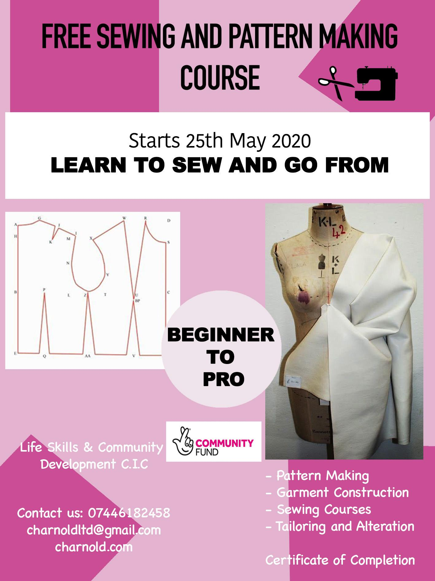 Free Pattern Drafting and Sewing Course