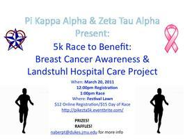 Pi Kappa Alpha & Zeta Tau Alpha 5k: To Benefit...