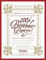 Virginia's Executive Mansion's 200th Birthday Party