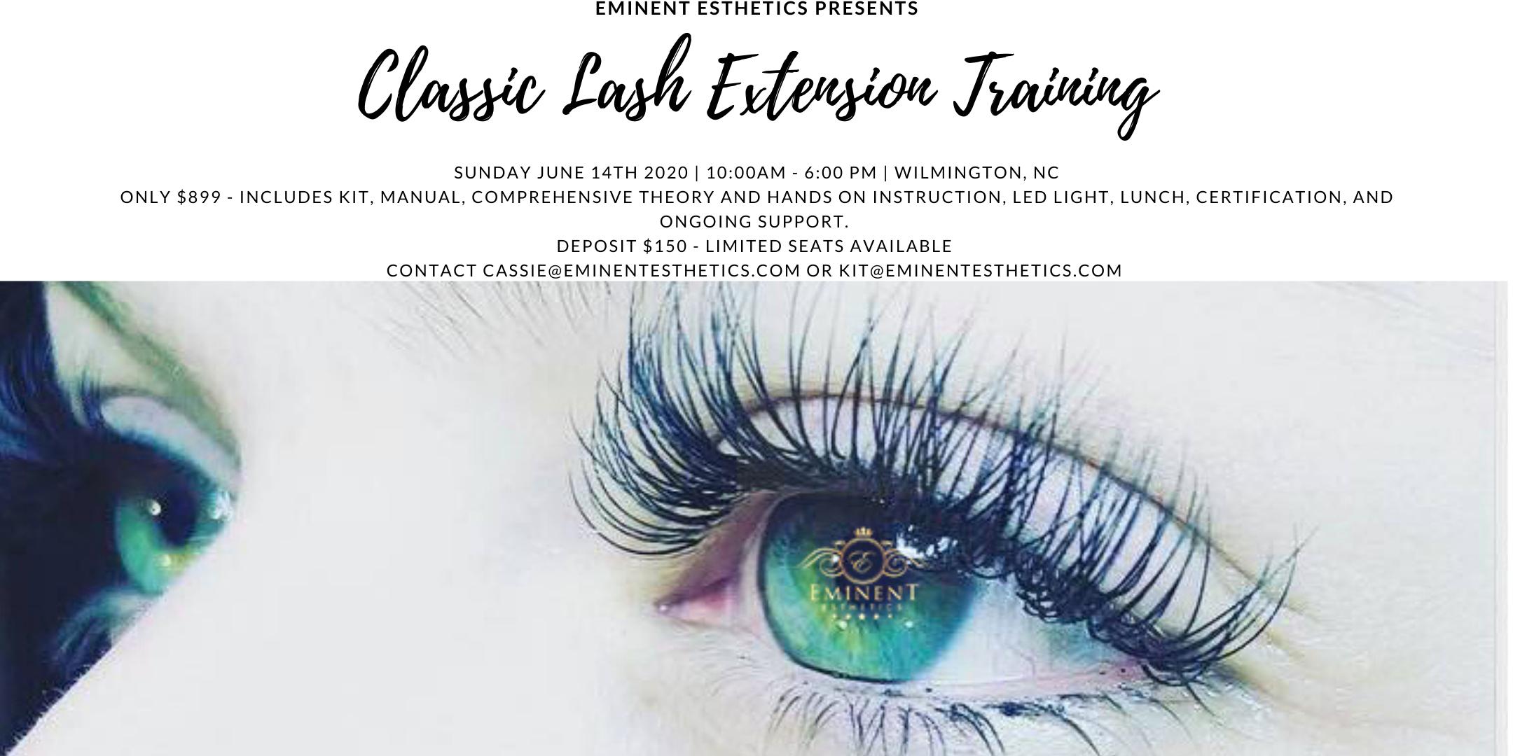 Classic Eyelash Extension Training And Certification 14 Jun 2020