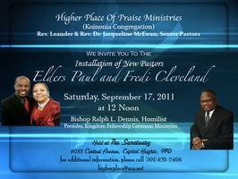 Pastoral Installation of Paul and Fredi Cleveland Tickets ...