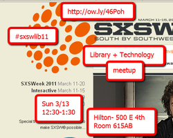 Librarians and Technology SXSW Meet Up