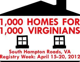 1,000 Homes for 1,000 Virginians:  South Hampton Roads...