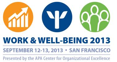 Work & Well-Being 2013: San Francisco