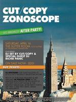 Cut/Copy After Party w/ Cut/Copy DJ set & DJ Richie...