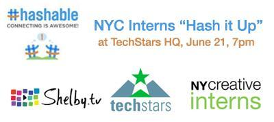 NYC Interns Hash It Up - Sponsored by Hashable and...