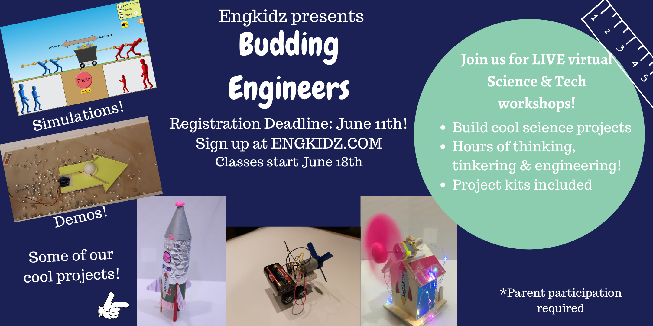 Engkidz - LIVE - Online Science Workshops for Kids - Hands-on Projects