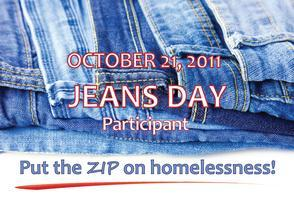 Jeans Day 2011: Putting the ZIP on Homelessness