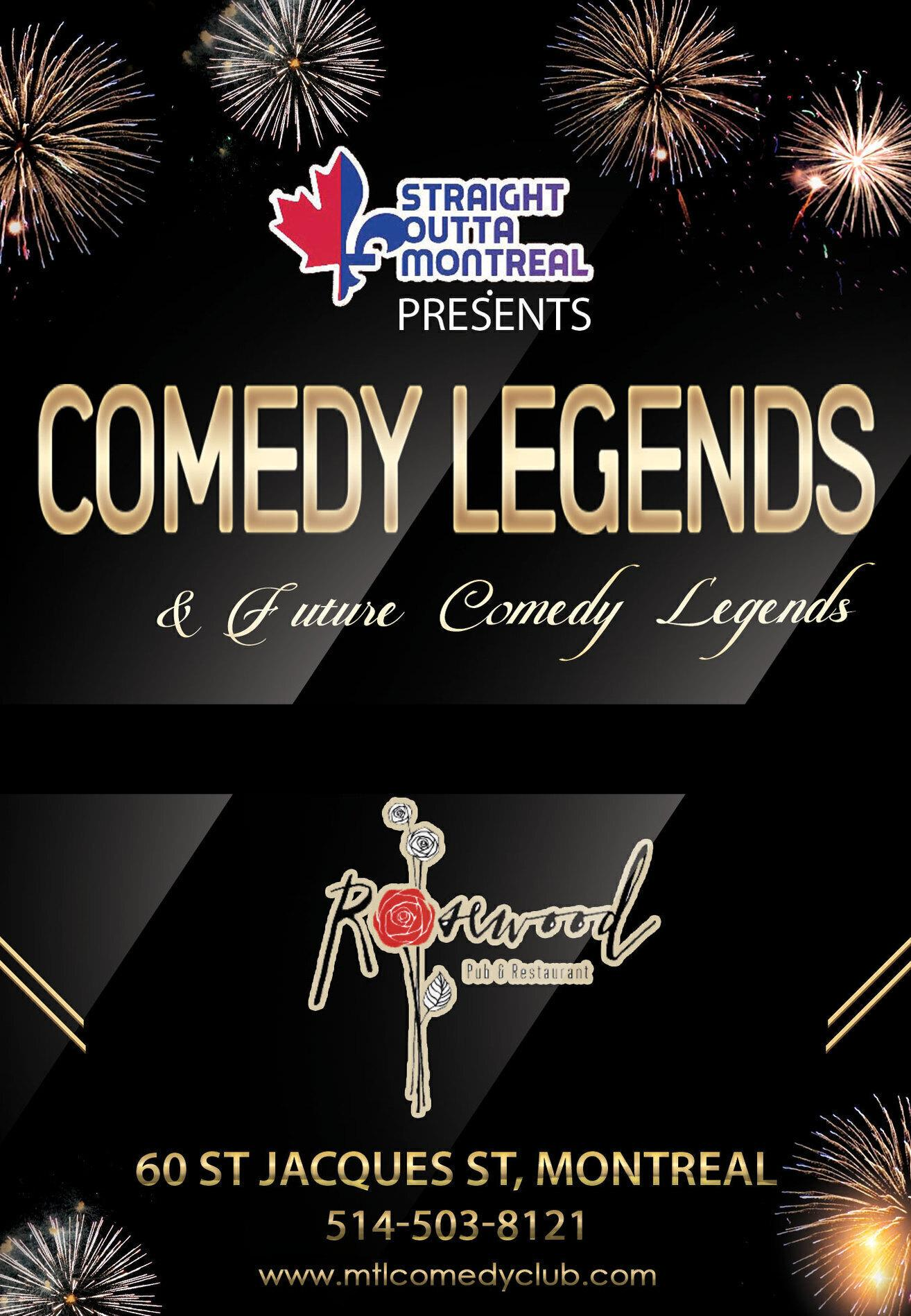 Comedy Legends ( Stand Up Comedy Show ) Montreal Comedy Club