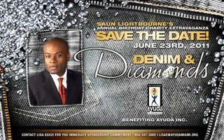 Saun Lightbourne's Denim and Diamonds Birthday Charity...