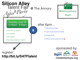 Silicon Alley Talent Fair - AFTER PARTY