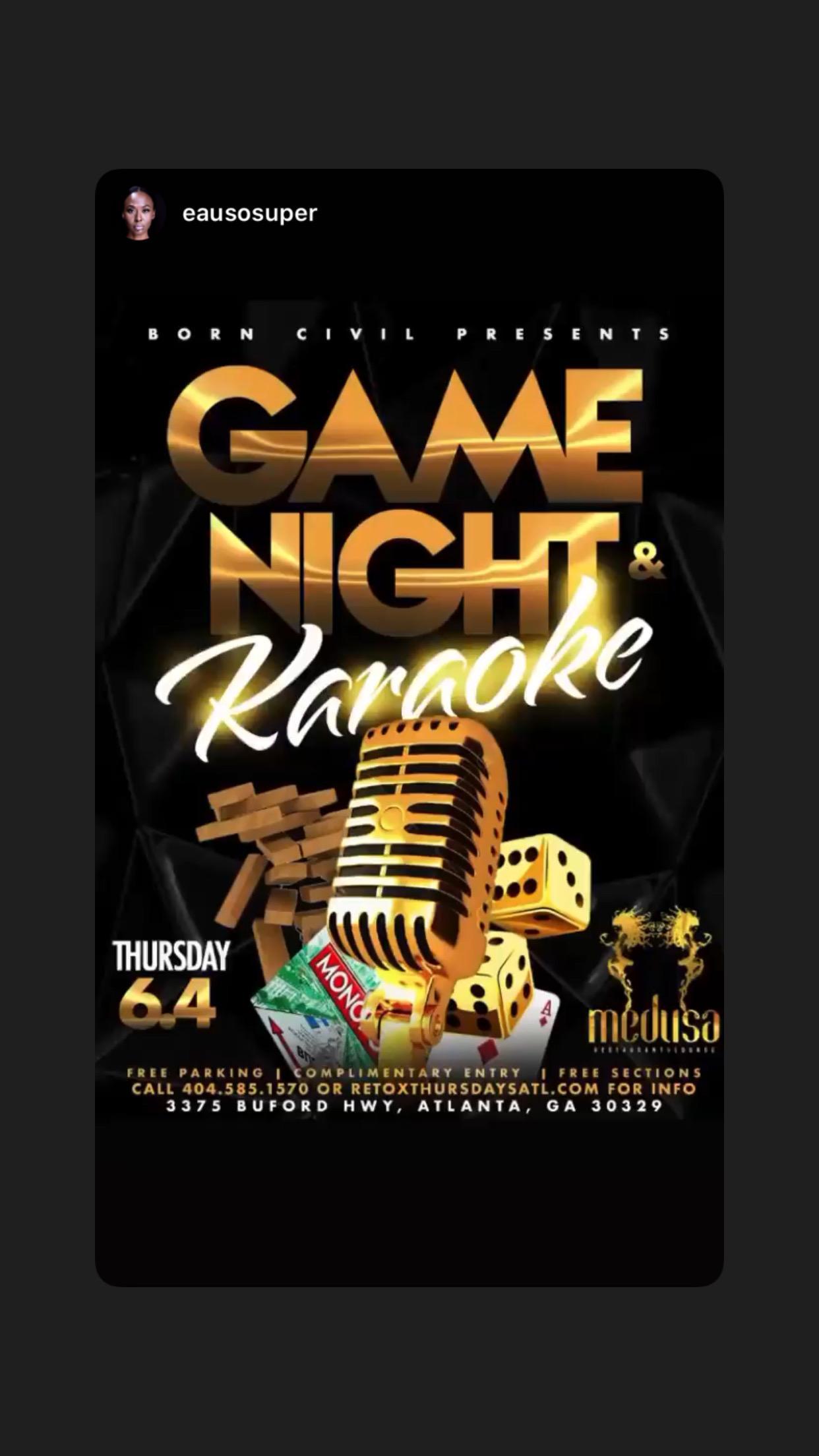 Karaoke + Game night