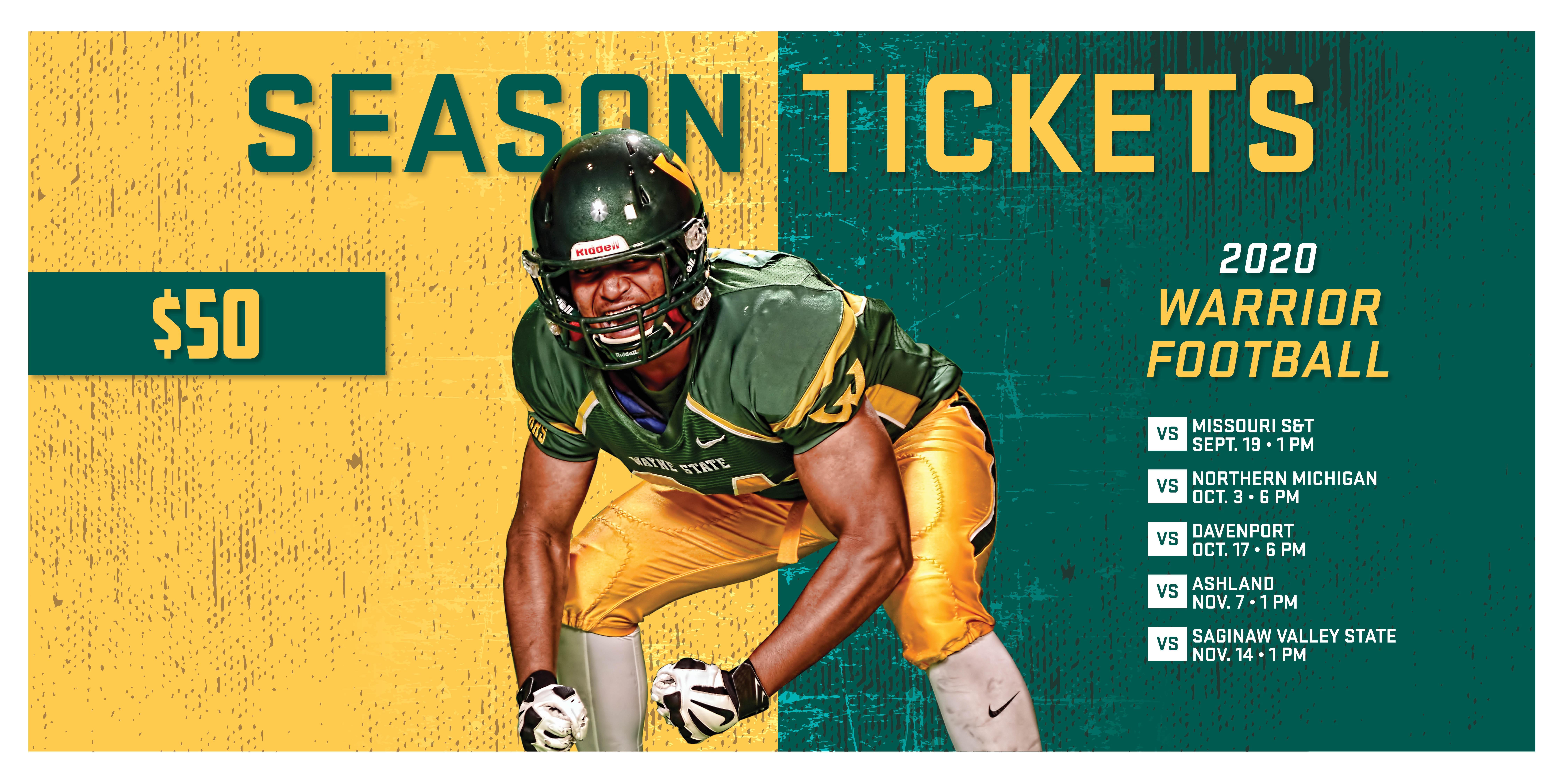 2020 Wayne State University Football Season Tickets