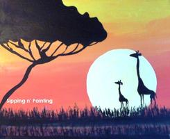 Sip N' Paint Giraffes Saturday March 16th, 4pm