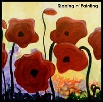 Sip N' Paint Popping Poppies Saturday March 23rd, 4pm