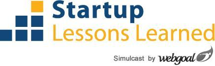 Webgoal - Startup Lessons Learned - 2011 Simulcast -...