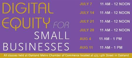"""Digital Equity for Small Businesses"" presented by..."
