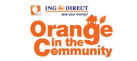 ING DIRECT Vancouver Cafe: Orange In The Community