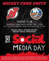 Social Media Day with the Devils and Islanders