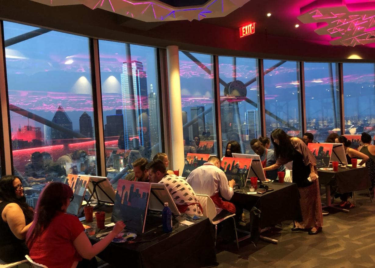 Painting With a View at Reunion Tower!