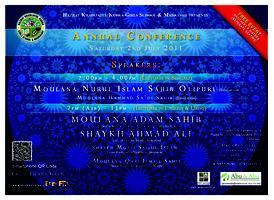 Annual Conference 2011 - Moulana Nurul Islam, Olipuri...