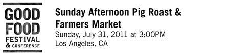 Roast Pig, Grilled Vegetables, Farmers Market and...