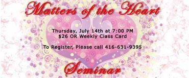 Matters of the Heart - A Relationships Seminar