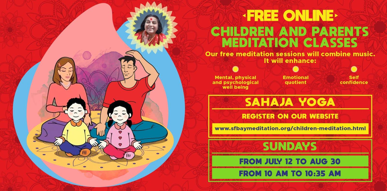 Free 8-week Online Meditation course for Parents and Kids