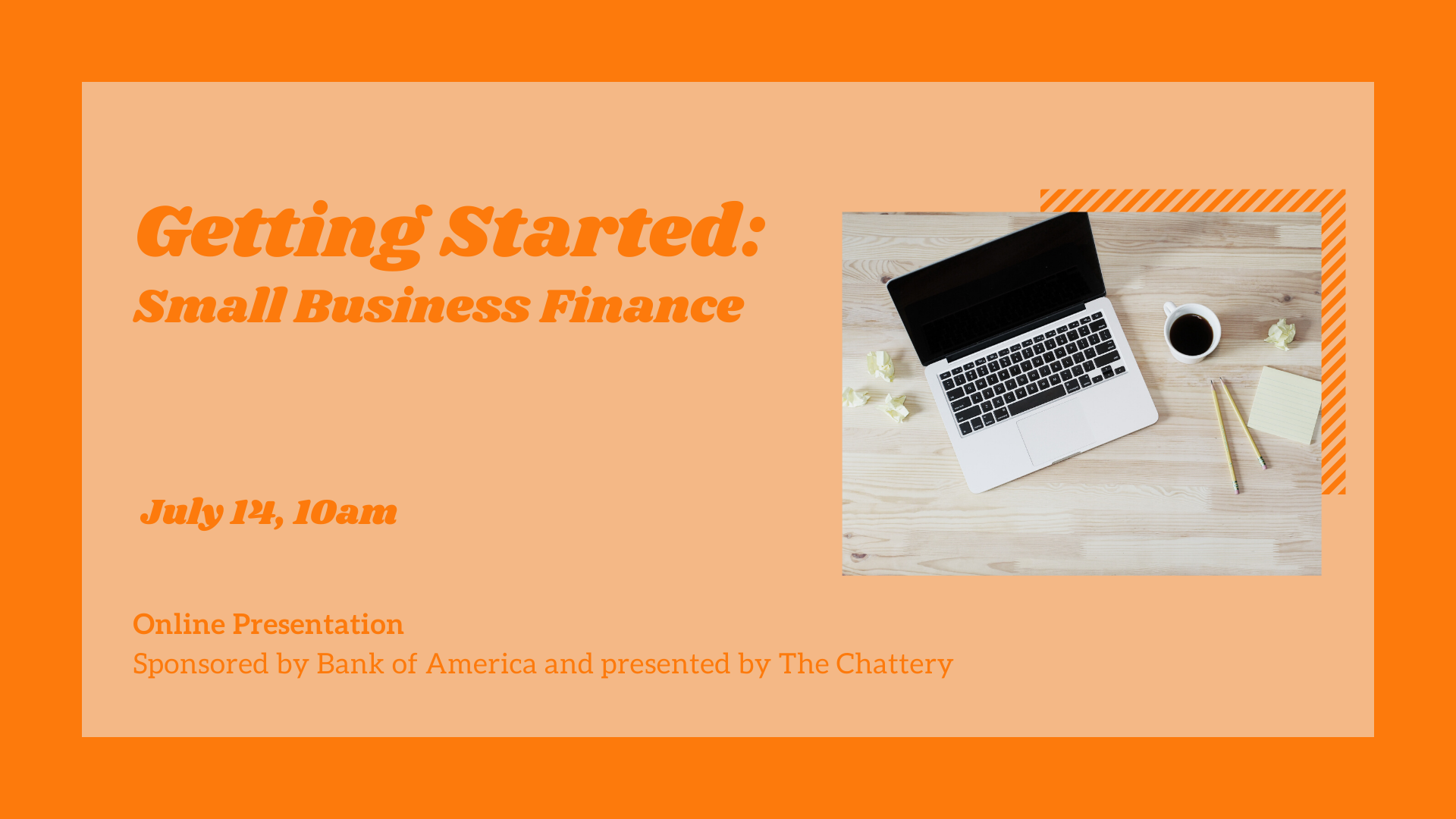 Getting Started: Small Business Finance - ONLINE CLASS