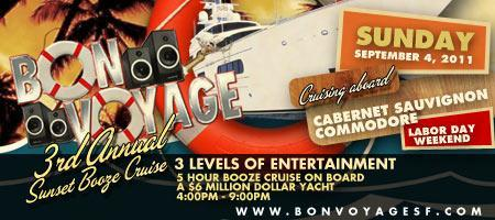 Bon Voyage 3rd Annual Sunset Booze Cruise