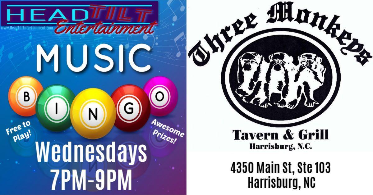 Music Bingo returns to Three Monkeys Tavern & Grill