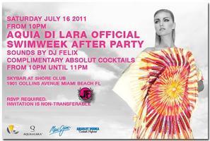 """Aquia Di Lara Official Swimweek After Party """"ShoreClub"""""""