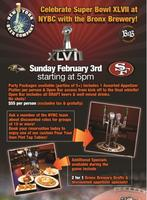 Super Bowl XLVII Party with The Bronx Brewery