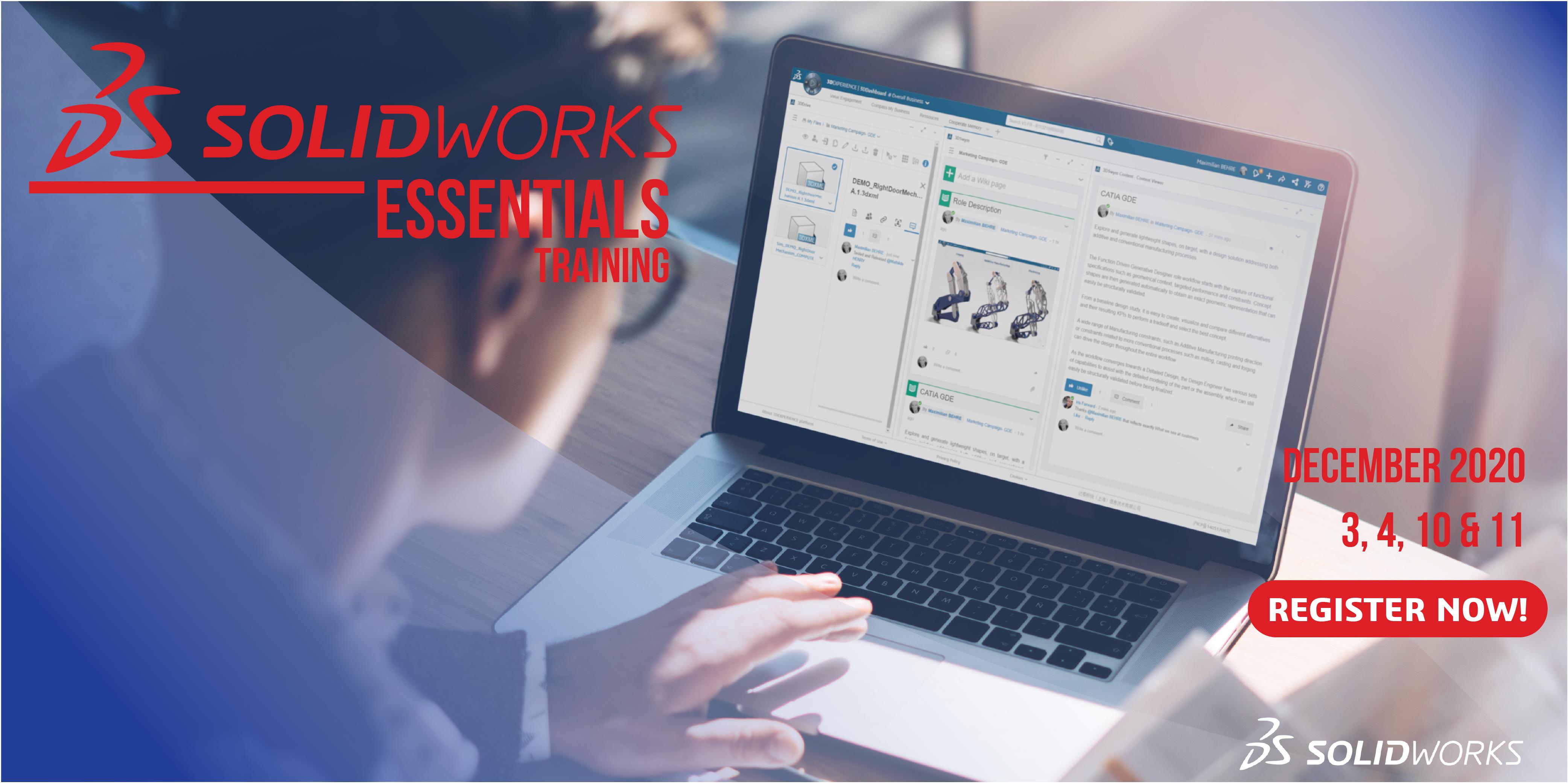 Copy Of Copy Of Solidworks Essentials Training 3 Dec 2020