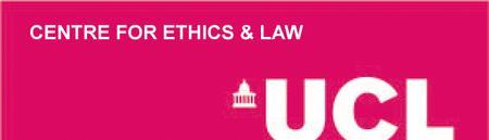 UCL Centre for Ethics & Law Annual Lecture: Professor...