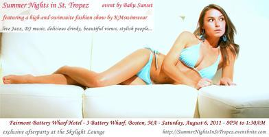 Summer Nights in St. Tropez  featuring KMswimwear...