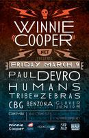 Winniecooper.net presents PAUL DEVRO, HUMANS, CBG,...