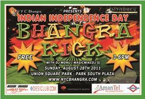 'Bhangra Kick' on Aug 28th 2011 at Union Square Park...