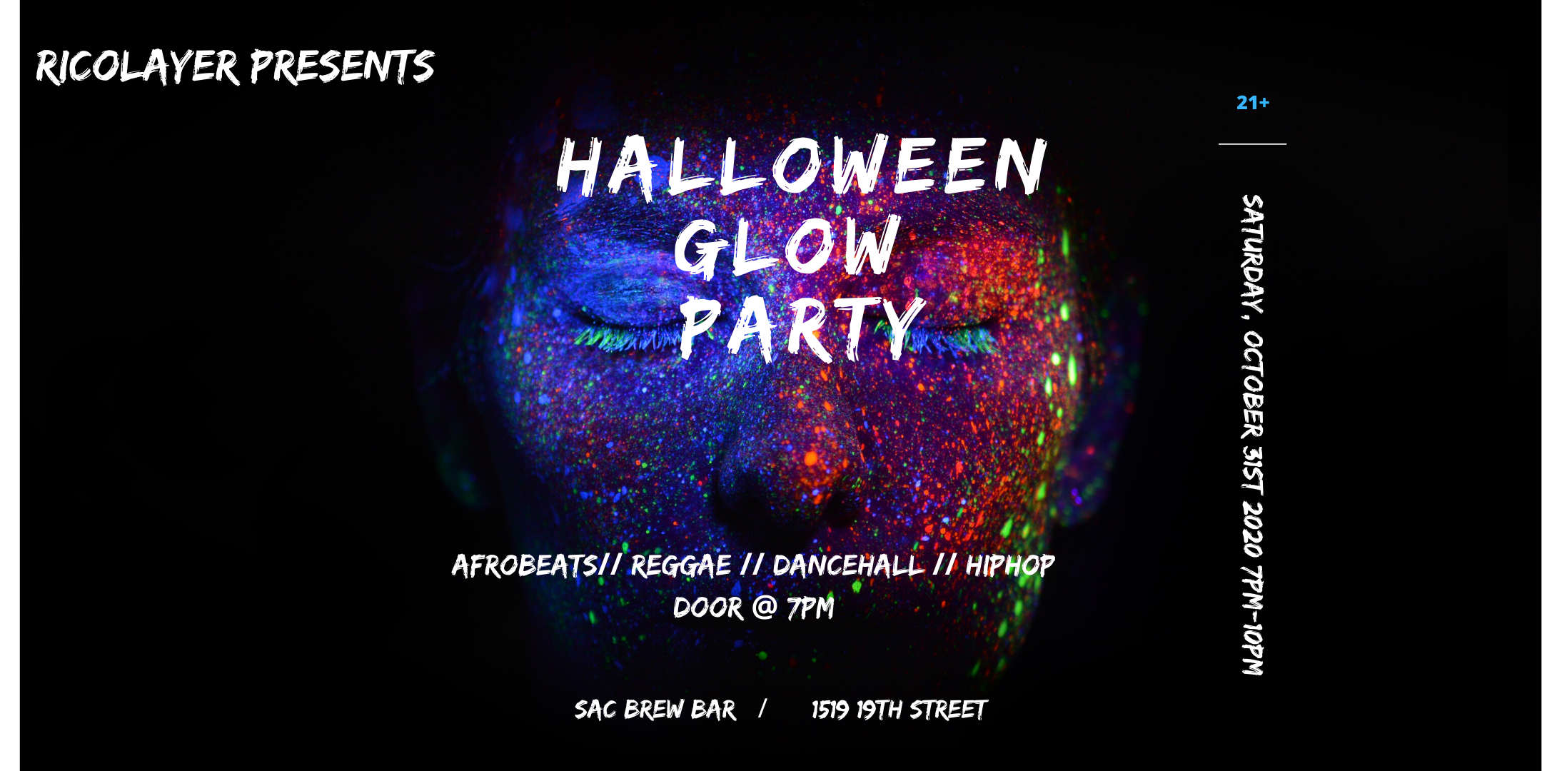 Halloween Party October 19th 2020 Halloween Glow Party   1 NOV 2020