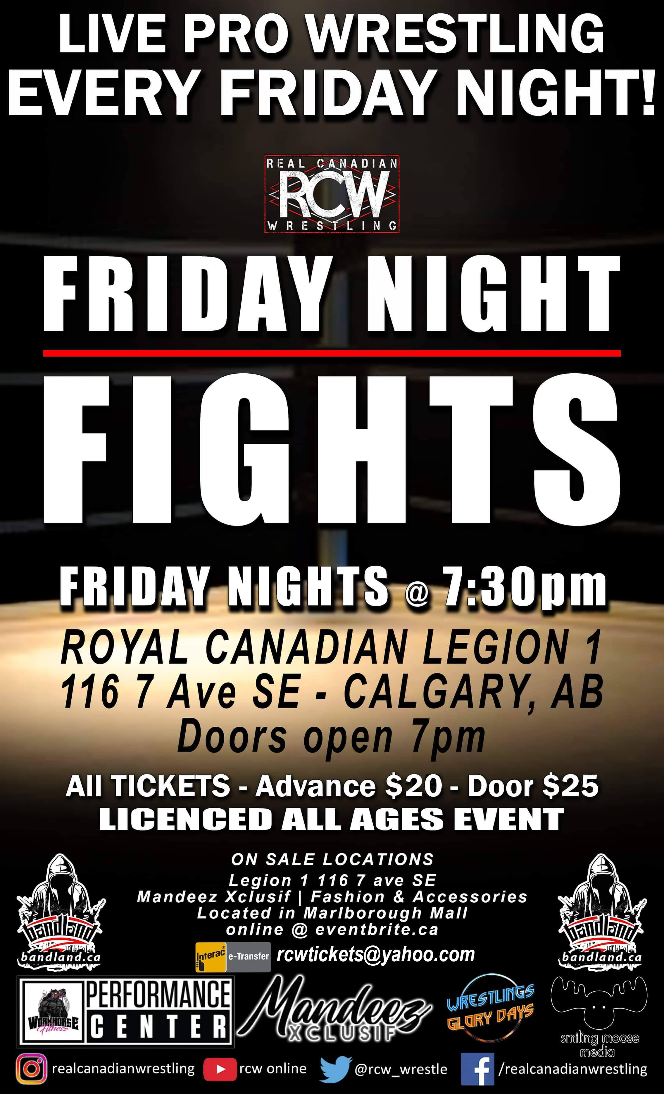 RCW FRIDAY NIGHT FIGHTS