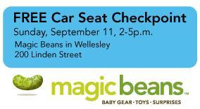 Car Seat Checkpoint at Magic Beans Wellesley