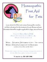 Homeopathic First Aid for Pets