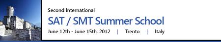SAT/SMT Summer School 2012