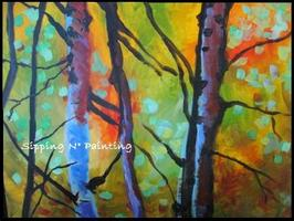 Sip N' Paint Forest Glow Friday April 19th, 6pm