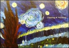 Sip N' Paint Starry Night Friday April 26th, 6pm