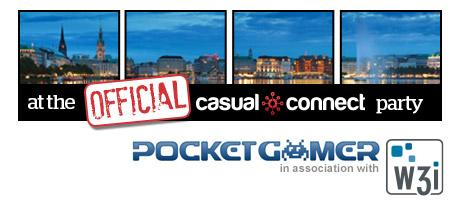Party with Pocket Gamer and W3i at the Official Casual...