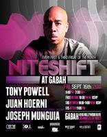 9/16 NITESHIFT (at Gabah) w/Tony Powell!  FREE B4...