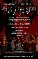 Lotus in the Bayou ~ Our Annual Halloween Belly Dance...